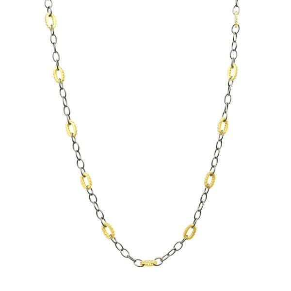 Signature Alternating Chain Link Necklace - YRZ070372B-18-1