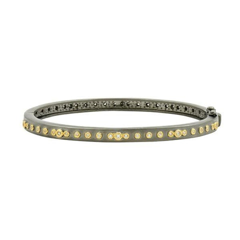 Signature Mini Stud Eternity Hinge Bangle - YRZB080056B-1 - Freida Rothman