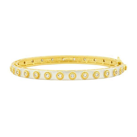 Signature Studded Eternity Hinge Bangle - YRZB0800B-HG-Freida Rothman-Renee Taylor Gallery