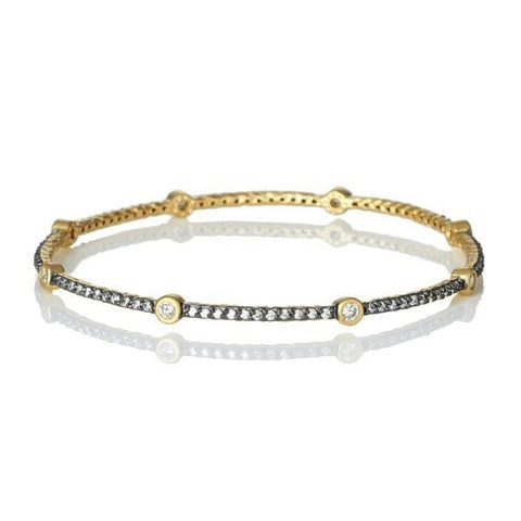 Signature Bezel Station Bangle - YRZB0861B-Freida Rothman-Renee Taylor Gallery