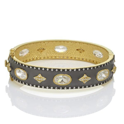 Signature Wide Hinge Bangle - YRZB0887B-Freida Rothman-Renee Taylor Gallery