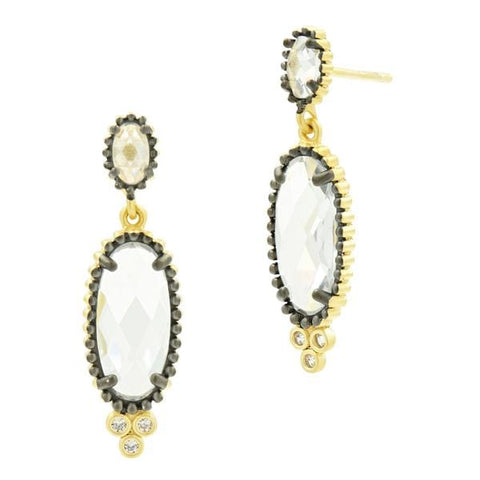 Signature I Need This In My Life Double Long Drop Earring - YRZE020325B-Freida Rothman-Renee Taylor Gallery