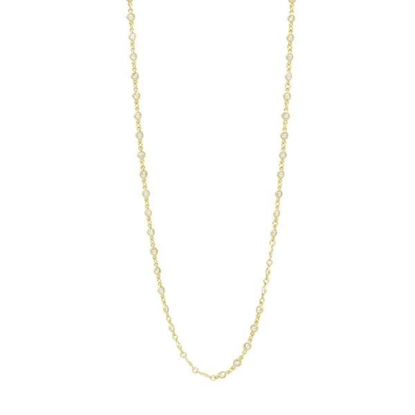 Signature Embellished Wrap Chain Necklace - YZ070058B-36-Freida Rothman-Renee Taylor Gallery