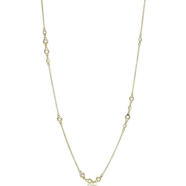 Signature Cluster Diamond By The Yard Necklace - YZ070066-36-Freida Rothman-Renee Taylor Gallery