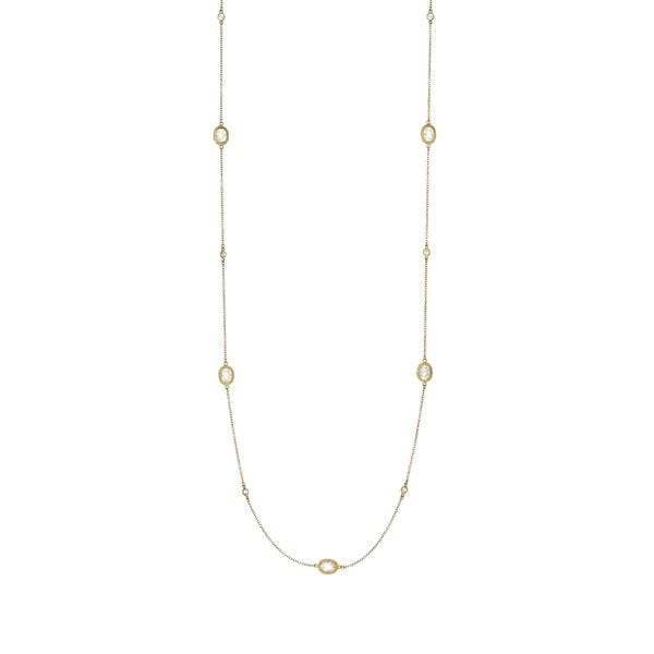 Signature Raindrop Station Necklace - YZ07150BB-36-Freida Rothman-Renee Taylor Gallery