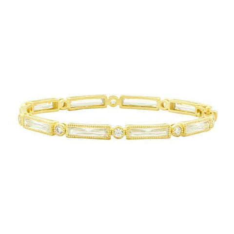 Signature Color Theory Baguette Bar Hinge Bangle - YZB080065B - Freida Rothman