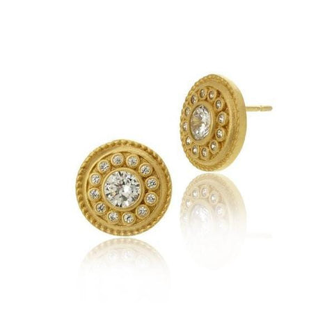 Signature Nautical Button Stud Earrings - YZE0216B-Freida Rothman-Renee Taylor Gallery