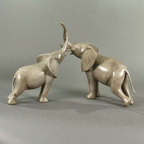 """Affectionate Elephants""-Loet Vanderveen-Renee Taylor Gallery"