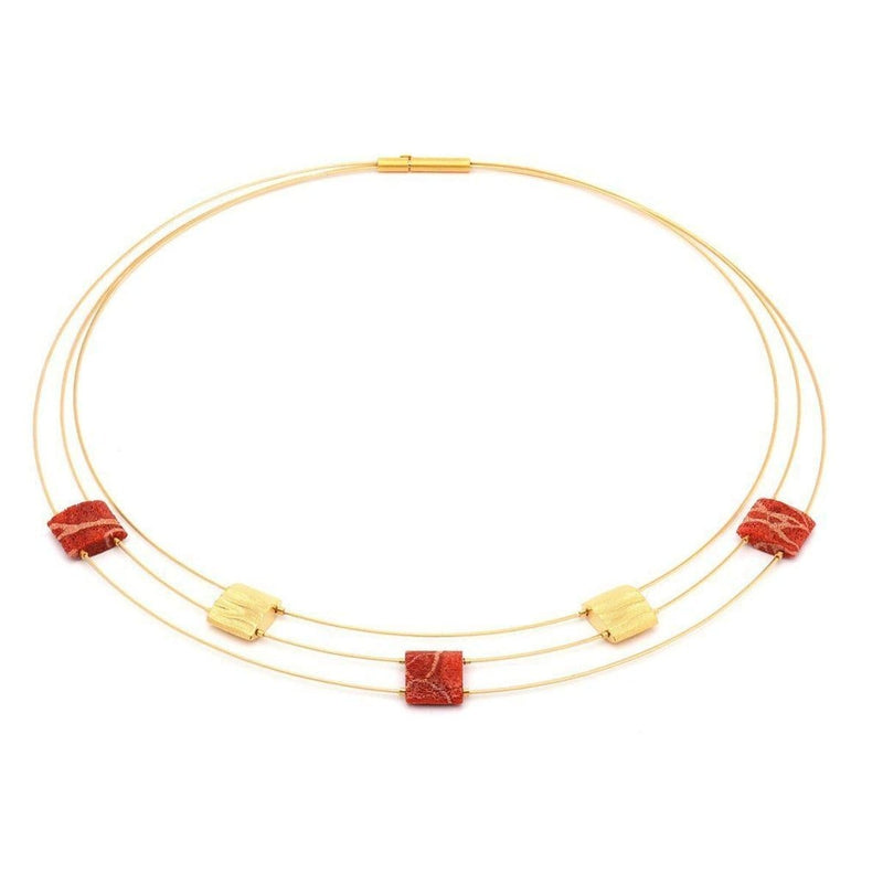Aladune Coral Necklace - 85025296-Bernd Wolf-Renee Taylor Gallery
