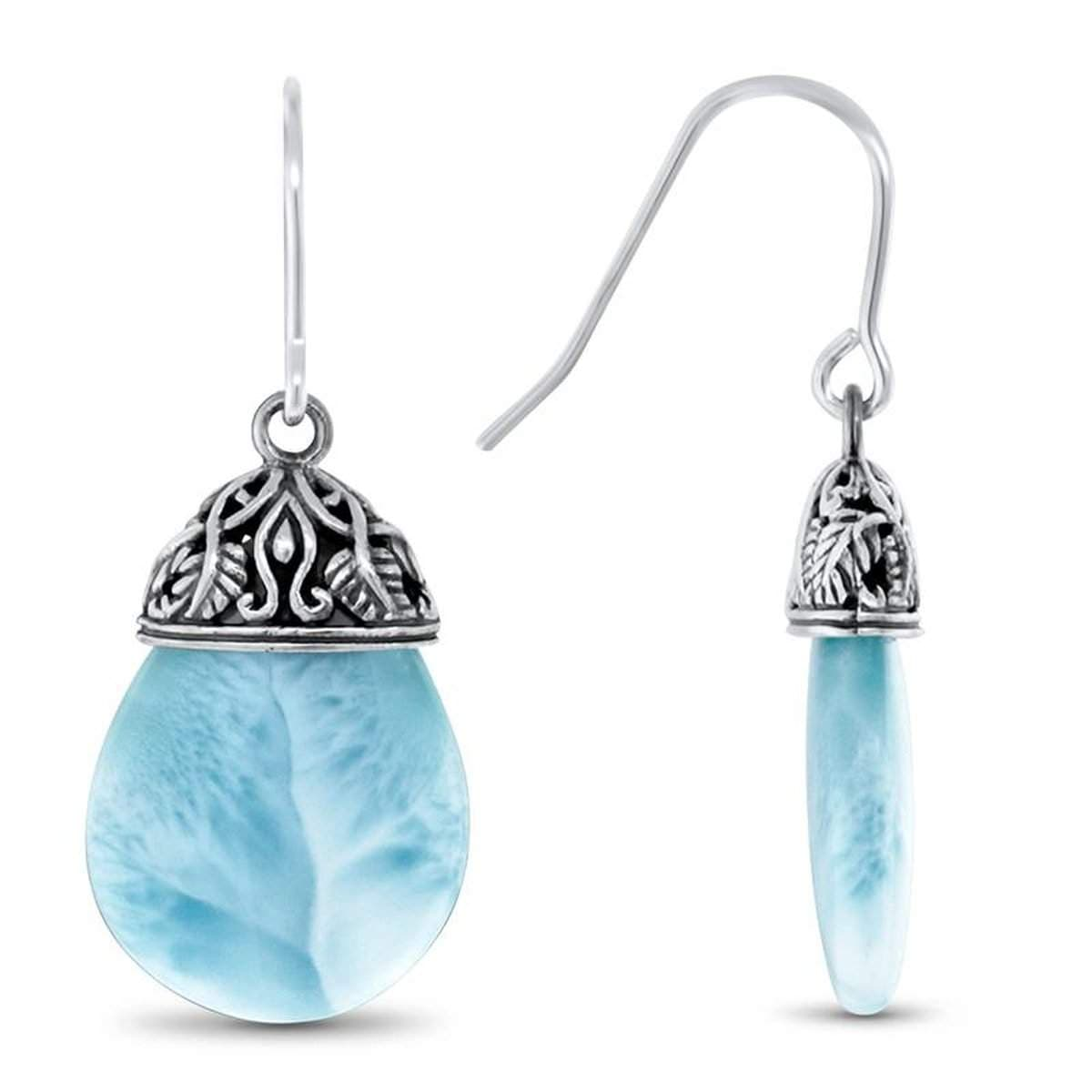 Alana Earrings - Ealan00-00-Marahlago Larimar-Renee Taylor Gallery