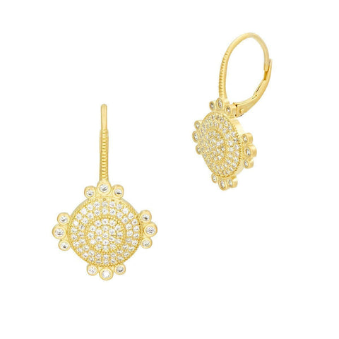 Amazonian Allure Pave Drop Earrings - AAYZE01-Freida Rothman-Renee Taylor Gallery