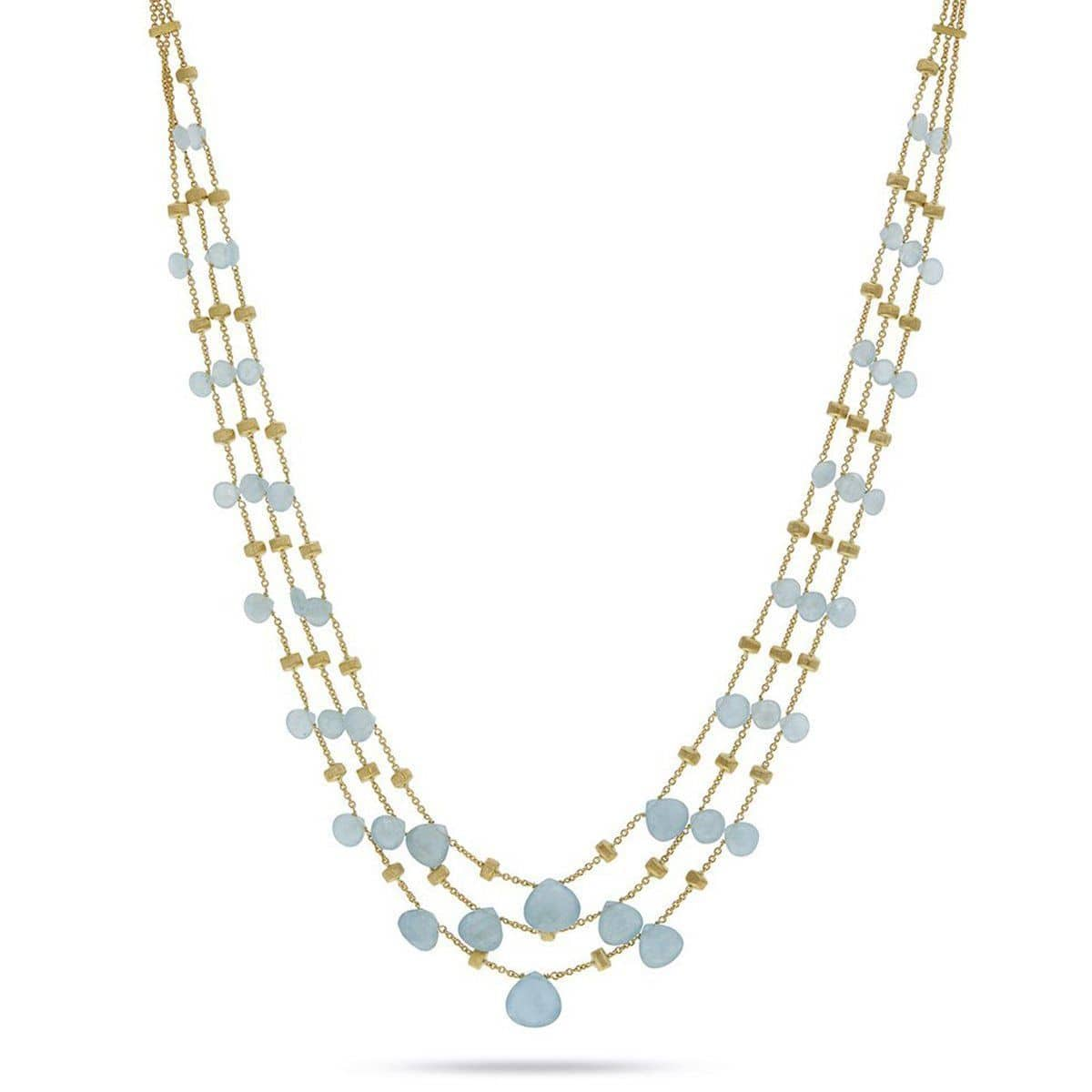 "Paradise Aquamarine Graduated Necklace - CB2009 AQ01 Y 16.5""-Marco Bicego-Renee Taylor Gallery"