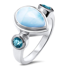 Atlantic Ring - Ratla00-00-Marahlago Larimar-Renee Taylor Gallery