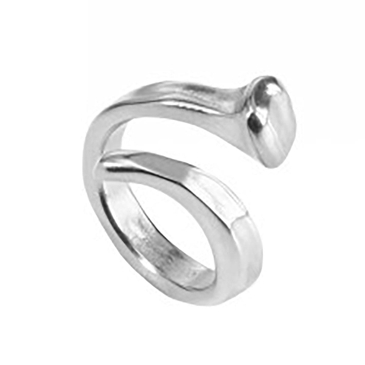 B12 Layered Silver Nail Ring - ANI0456MTL0000