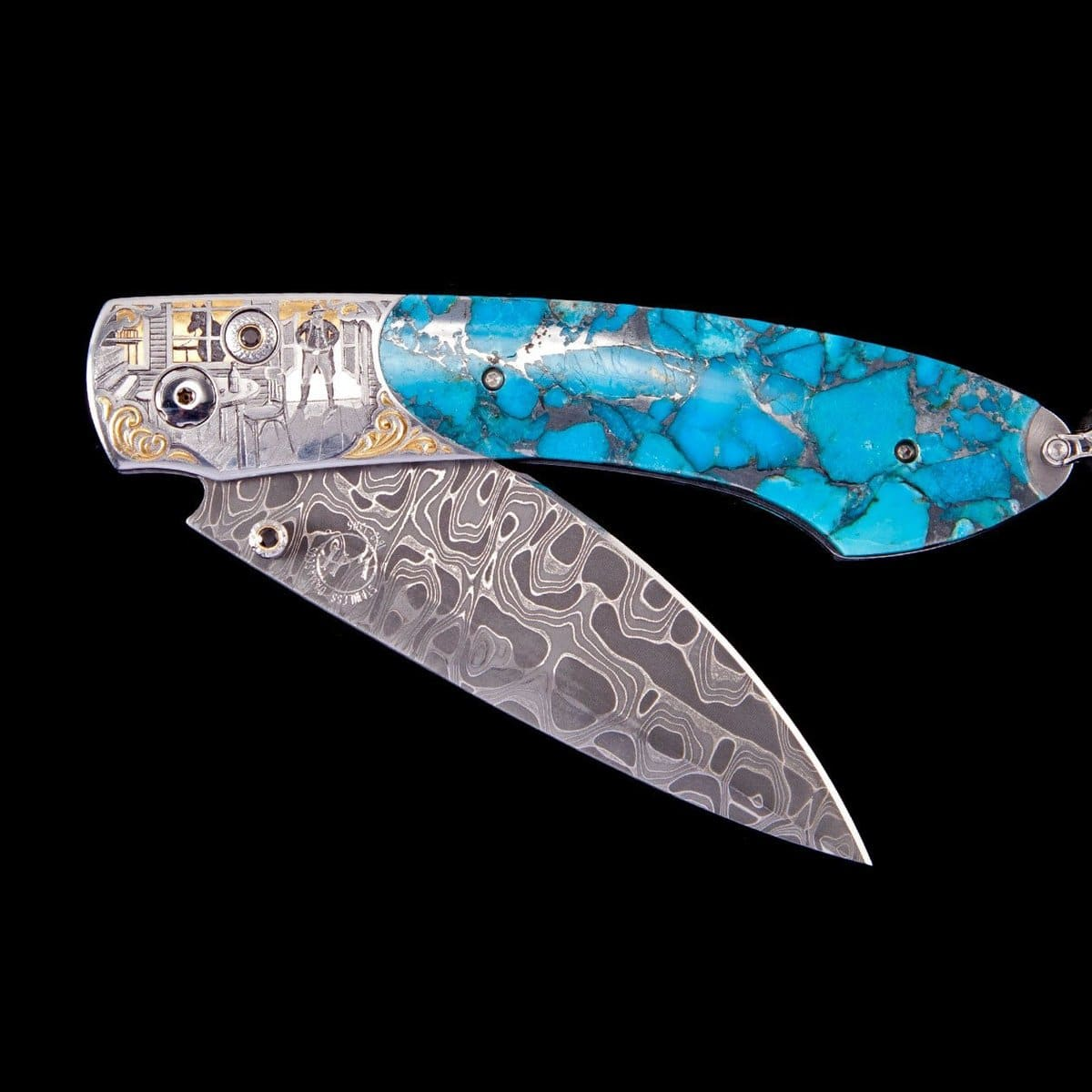 Spearpoint Outlaw II Limited Edition Knife - B12 OUTLAW II-William Henry-Renee Taylor Gallery