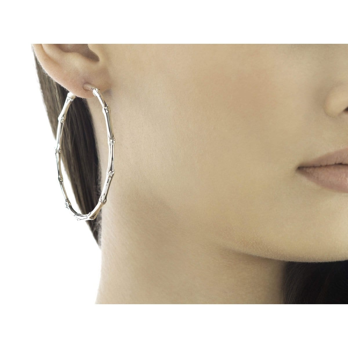 Bamboo Closure Hoop Earrings - EB5111-John Hardy-Renee Taylor Gallery