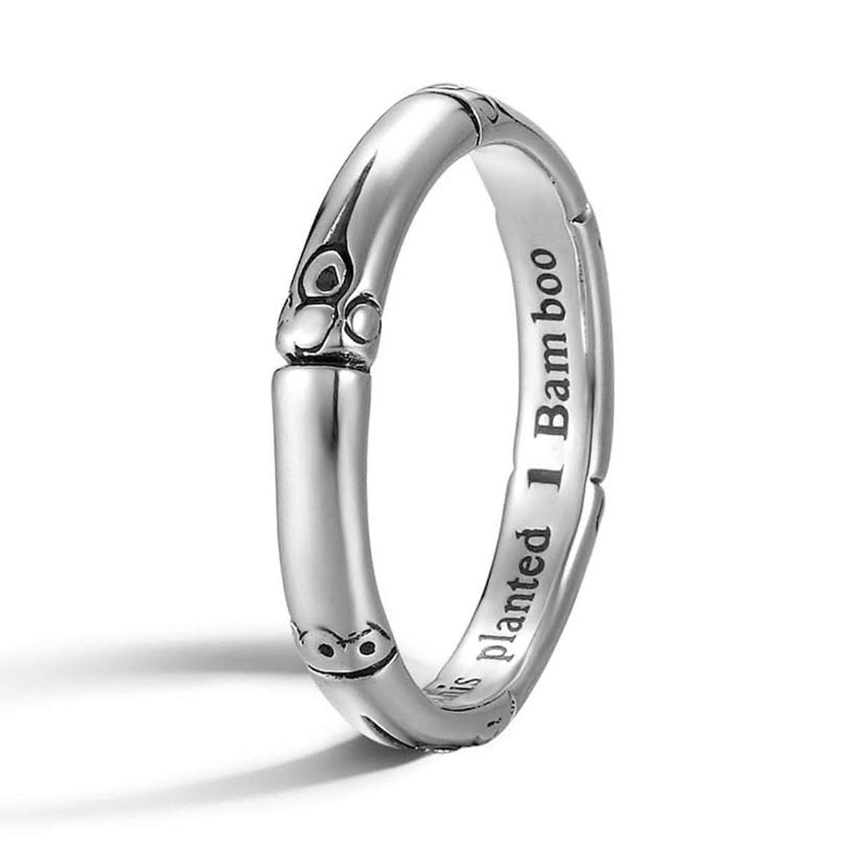 Bamboo Silver Slim Ring - RB5011