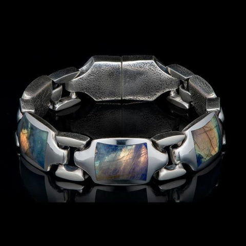 Men's Labradorite Retro Bracelet - BR13 LAB-William Henry-Renee Taylor Gallery
