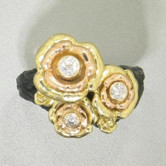 Bee Cluster Diamond & Gold Ring - 29R5-1-1GGS-Sarah Graham-Renee Taylor Gallery