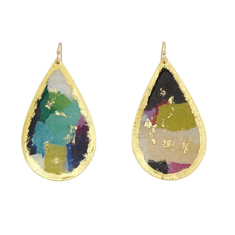 Berlin Gold Teardrop Earrings - VO416-Evocateur-Renee Taylor Gallery