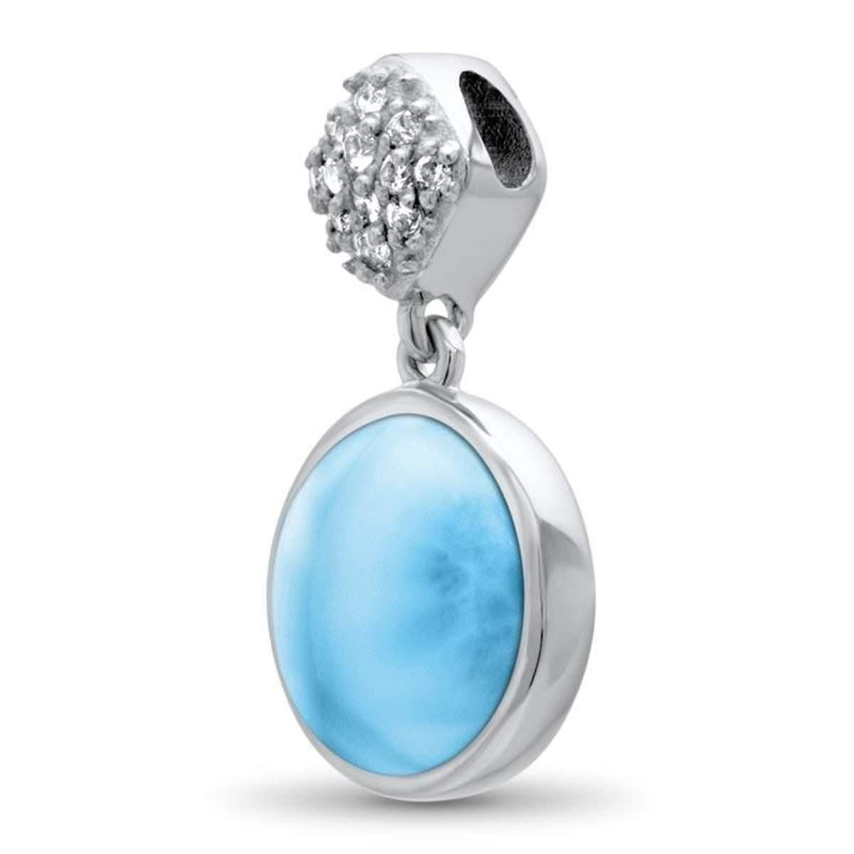 Bliss Round Necklace - Nblis00-00-Marahlago Larimar-Renee Taylor Gallery