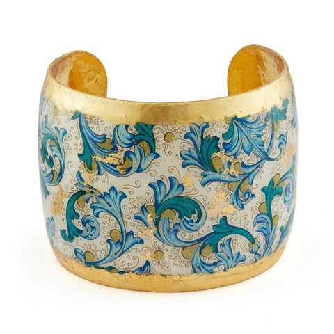 "Blue Firenze 2"" Gold Cuff - AC143B-Evocateur-Renee Taylor Gallery"