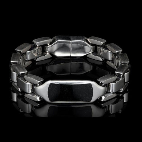 Men's Black Jade Identity Bracelet - BR24 BLK J-William Henry-Renee Taylor Gallery