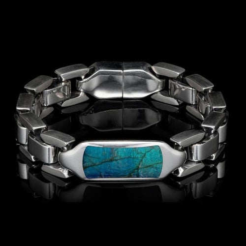 Men's Labradorite Identity Bracelet - BR24 LAB-William Henry-Renee Taylor Gallery