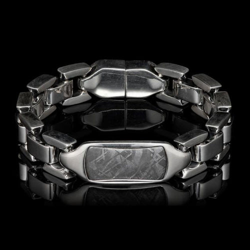 Men's Meteorite Identity Bracelet - BR24 MET-William Henry-Renee Taylor Gallery