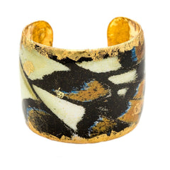 "Butterfly Wing 2"" Gold Cuff - GN129-Evocateur-Renee Taylor Gallery"
