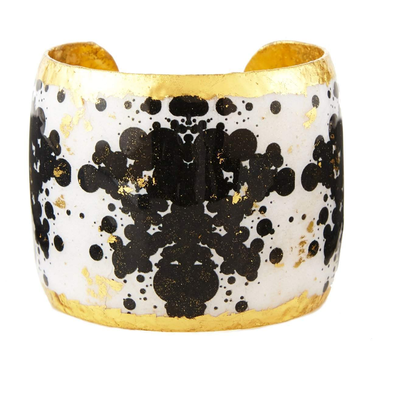 "B&W Rorschach 2"" Gold Cuff - BW133-Evocateur-Renee Taylor Gallery"