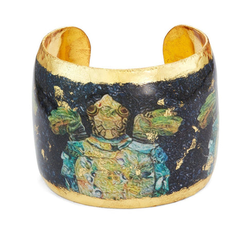 "Caribbean Sea Turtle 2"" Gold Cuff - OC143-Evocateur-Renee Taylor Gallery"