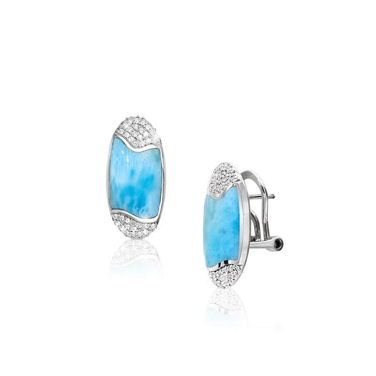 Cascadia Earrings - Ecasc00-00-Marahlago Larimar-Renee Taylor Gallery