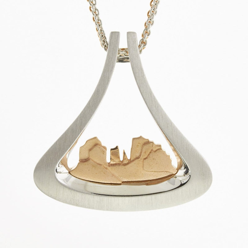 Cathedral Rock (LARGE) Rose Gold Plated Pendant - 34/01689-Breuning-Renee Taylor Gallery