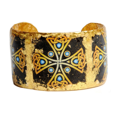 "Celtic Cross 1.5"" Gold Cuff - AC124-Evocateur-Renee Taylor Gallery"