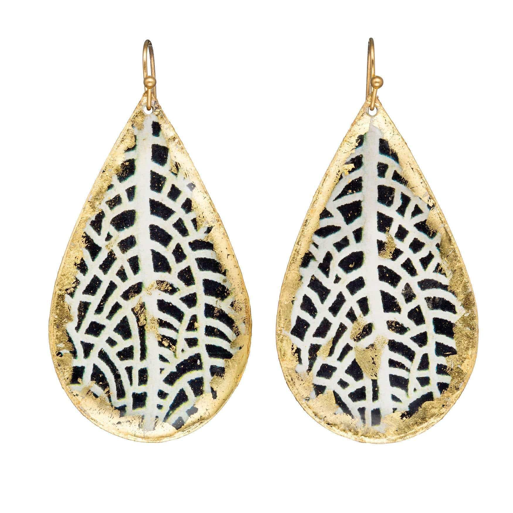 Chantal Gold Teardrops Earrings - BW401-Evocateur-Renee Taylor Gallery