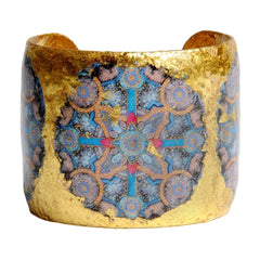 "Charlemagne 2"" Gold Cuff - ME106-Evocateur-Renee Taylor Gallery"