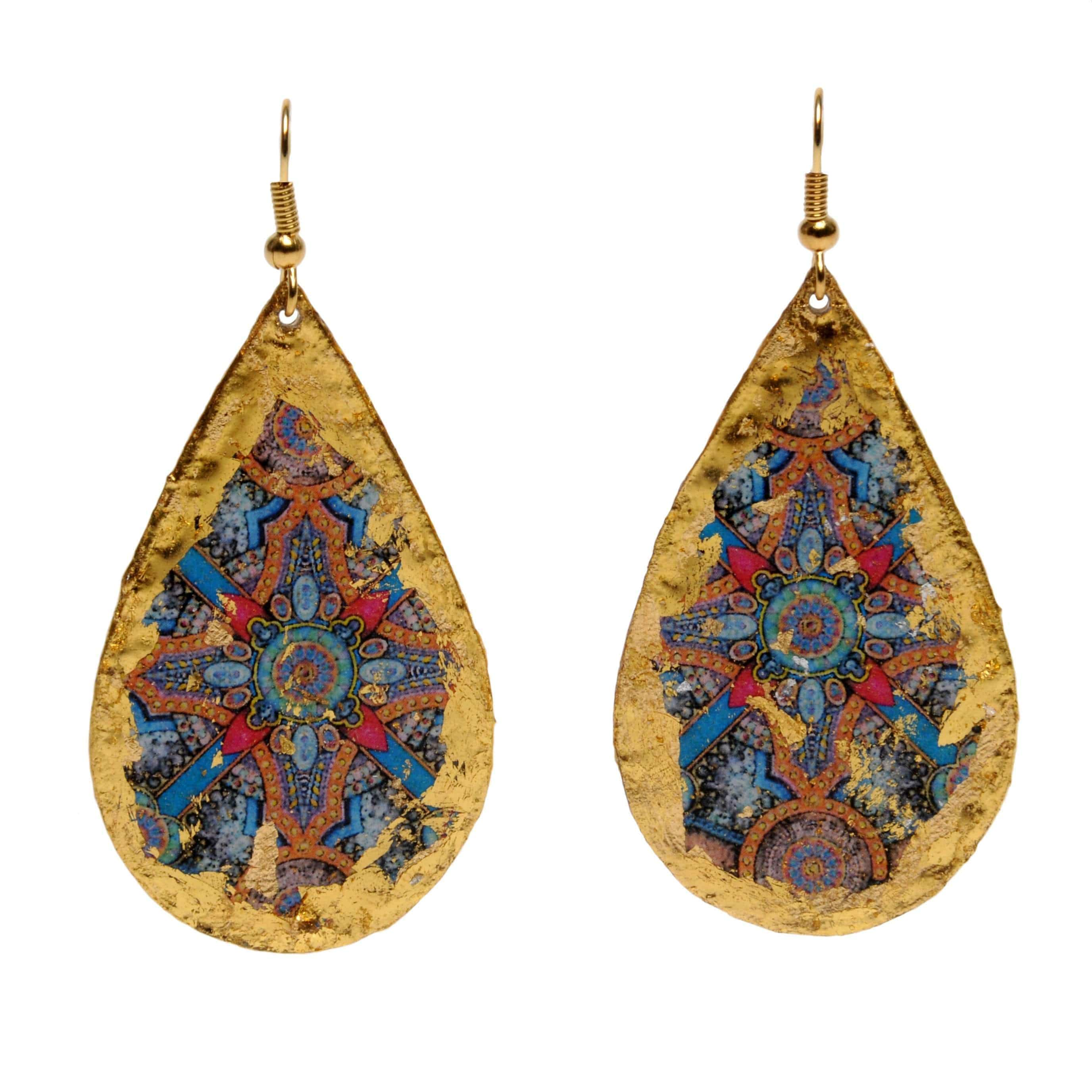 Charlemagne Gold Teardrop Earrings - ME401-Evocateur-Renee Taylor Gallery