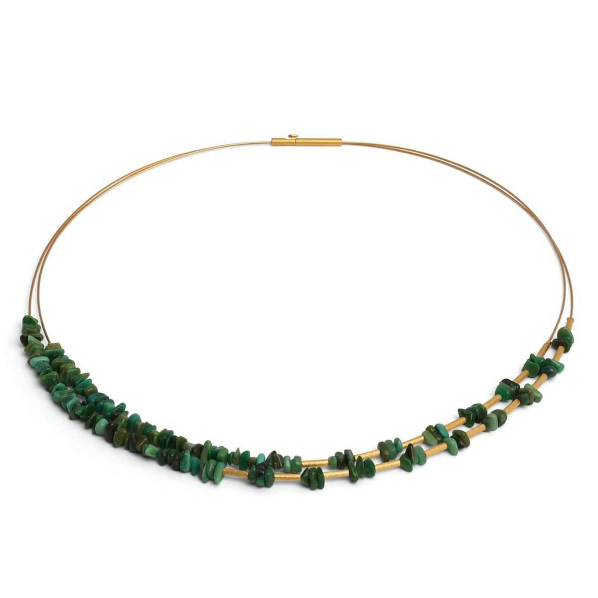 Chipas Green Turquoise Necklace - 85374356-Bernd Wolf-Renee Taylor Gallery