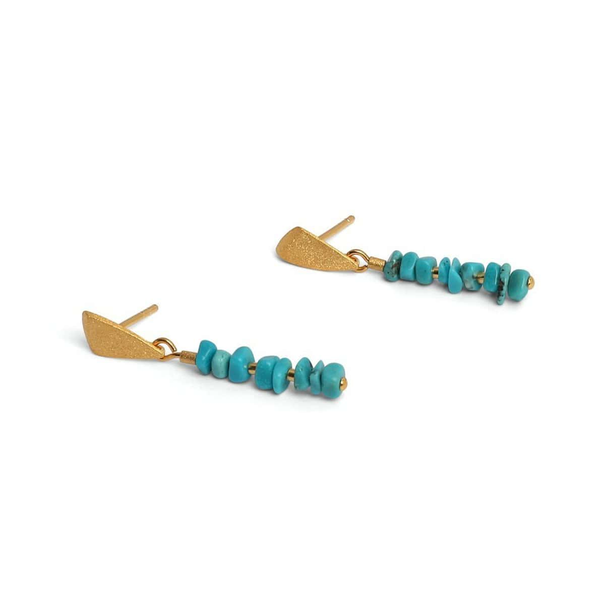 Chipas Turquoise Earrings - 15956256-Bernd Wolf-Renee Taylor Gallery