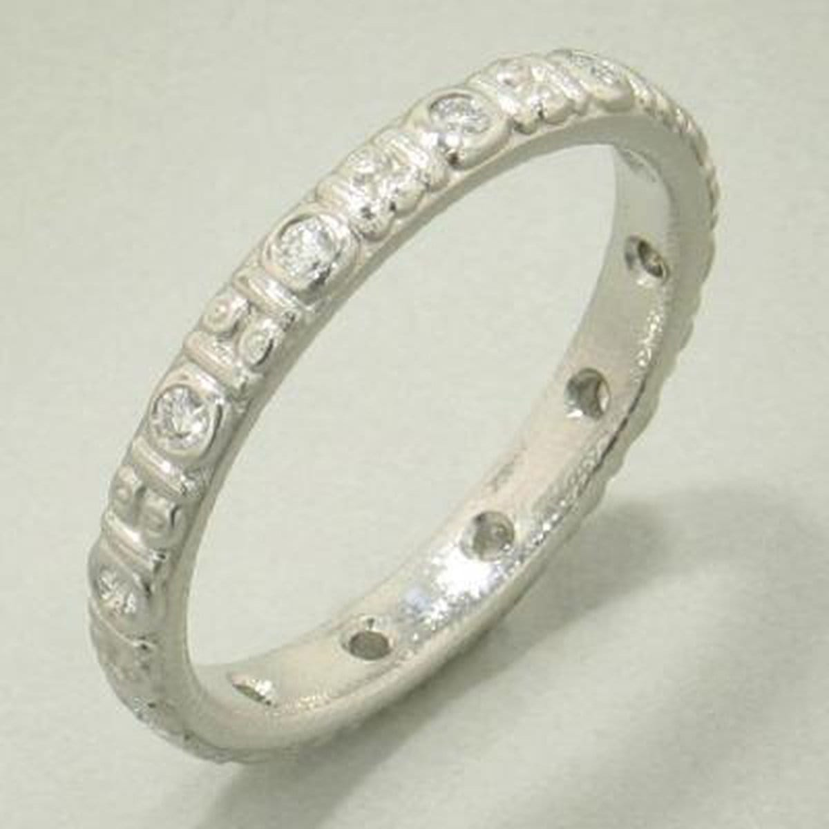Platinum Circle Diamond Band - R-73P