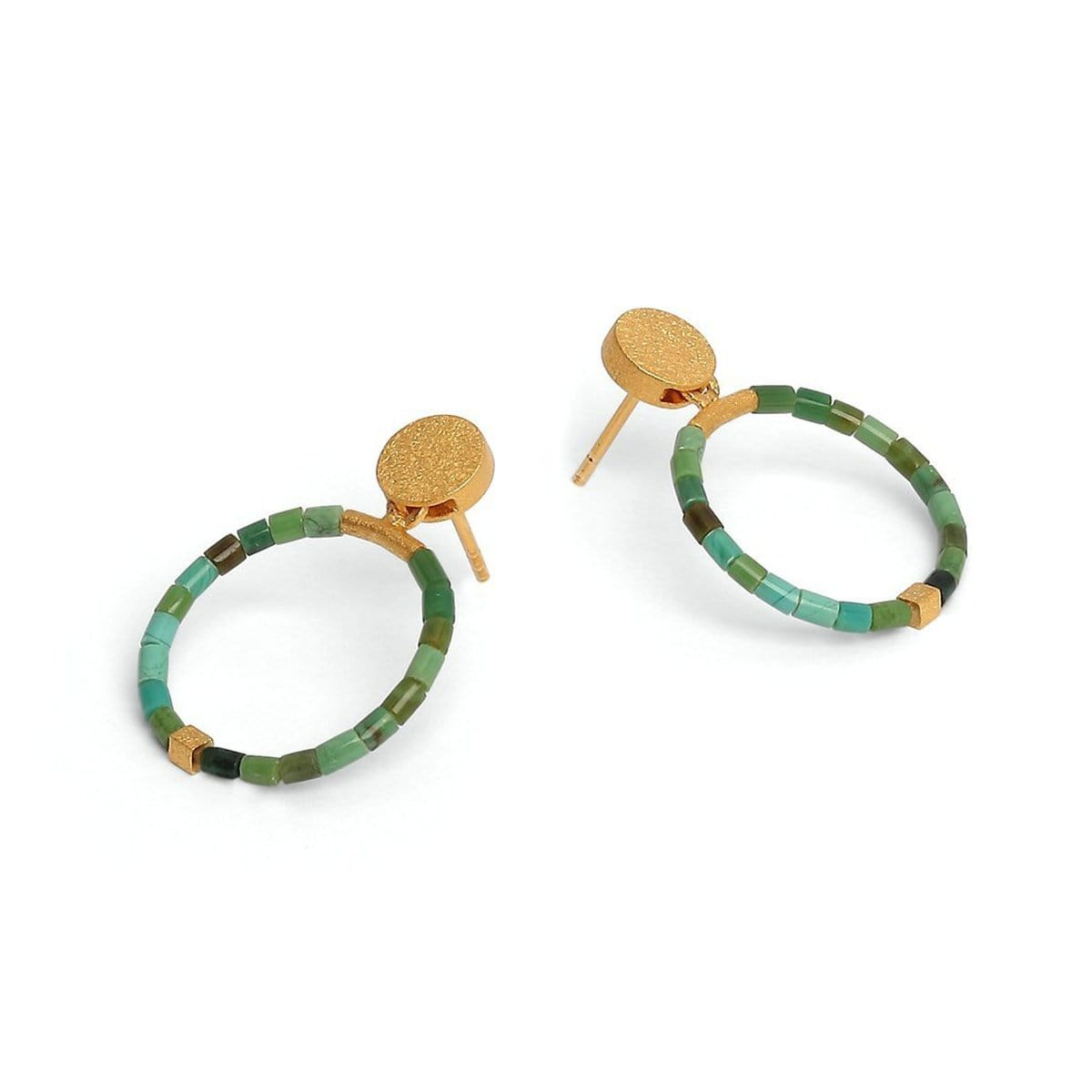 Circolo Green Turquoise Earrings - 15586356-Bernd Wolf-Renee Taylor Gallery