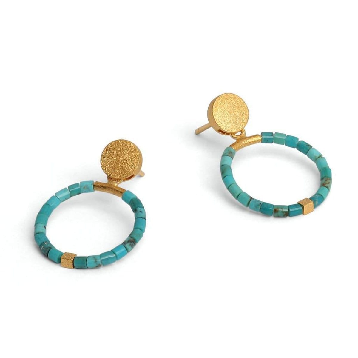 Circolo Turquoise Earrings - 15586256-Bernd Wolf-Renee Taylor Gallery