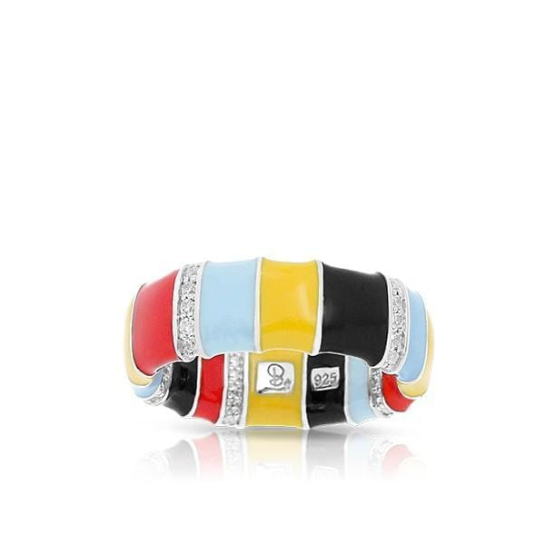 Cirque Red, Yellow, & Black Rings-Belle Etoile-Renee Taylor Gallery
