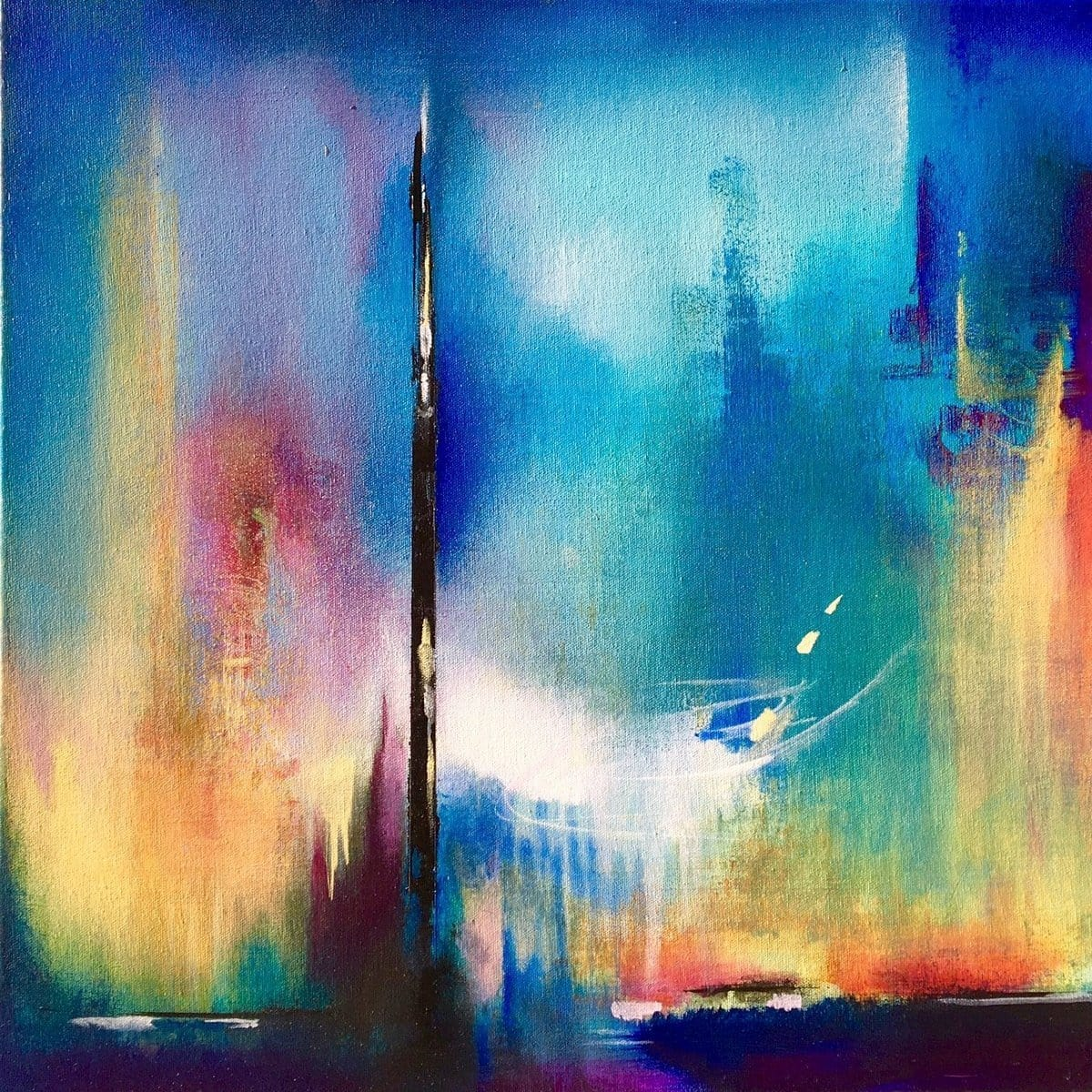 """City Lights""-Dyan Nelson-Renee Taylor Gallery"