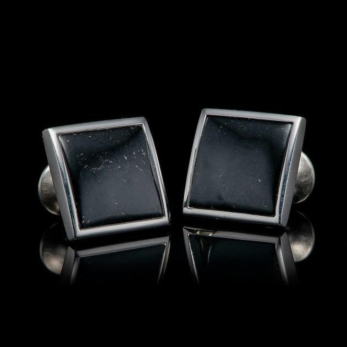 Men's Black Jade Duo Cuff Links - CL BLK J-William Henry-Renee Taylor Gallery