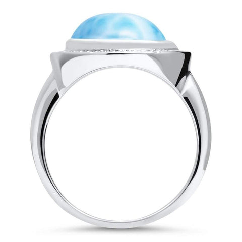 Clarity Oval Ring - Rclar00-00-Marahlago Larimar-Renee Taylor Gallery