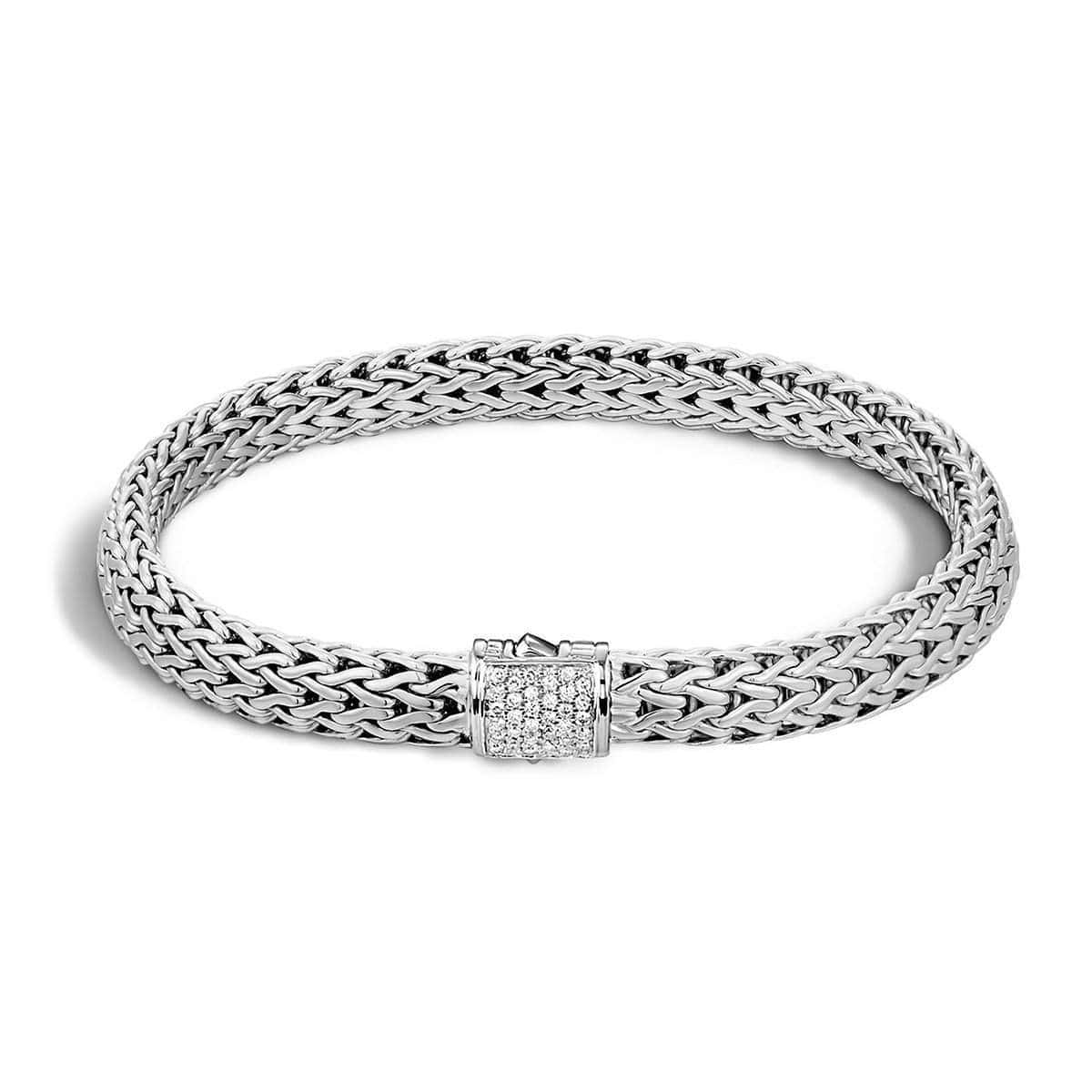 Classic Chain Bracelet with 0.16 ct Diamonds - BBP9042DI-John Hardy-Renee Taylor Gallery