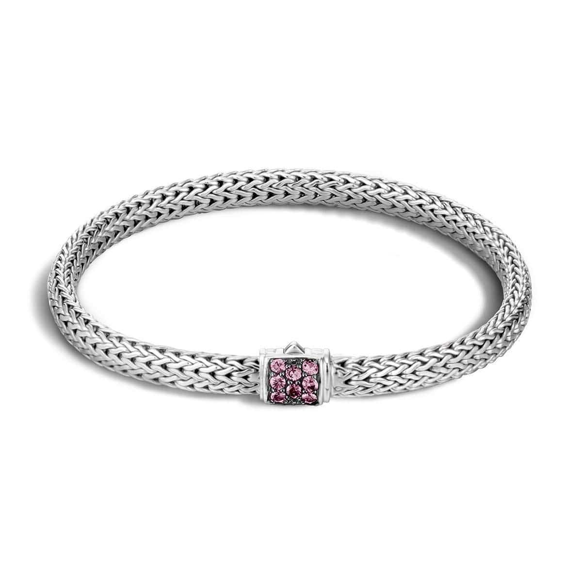 Classic Chain Extra Small Pink Spinel Bracelet - BBS96002SNP-John Hardy-Renee Taylor Gallery