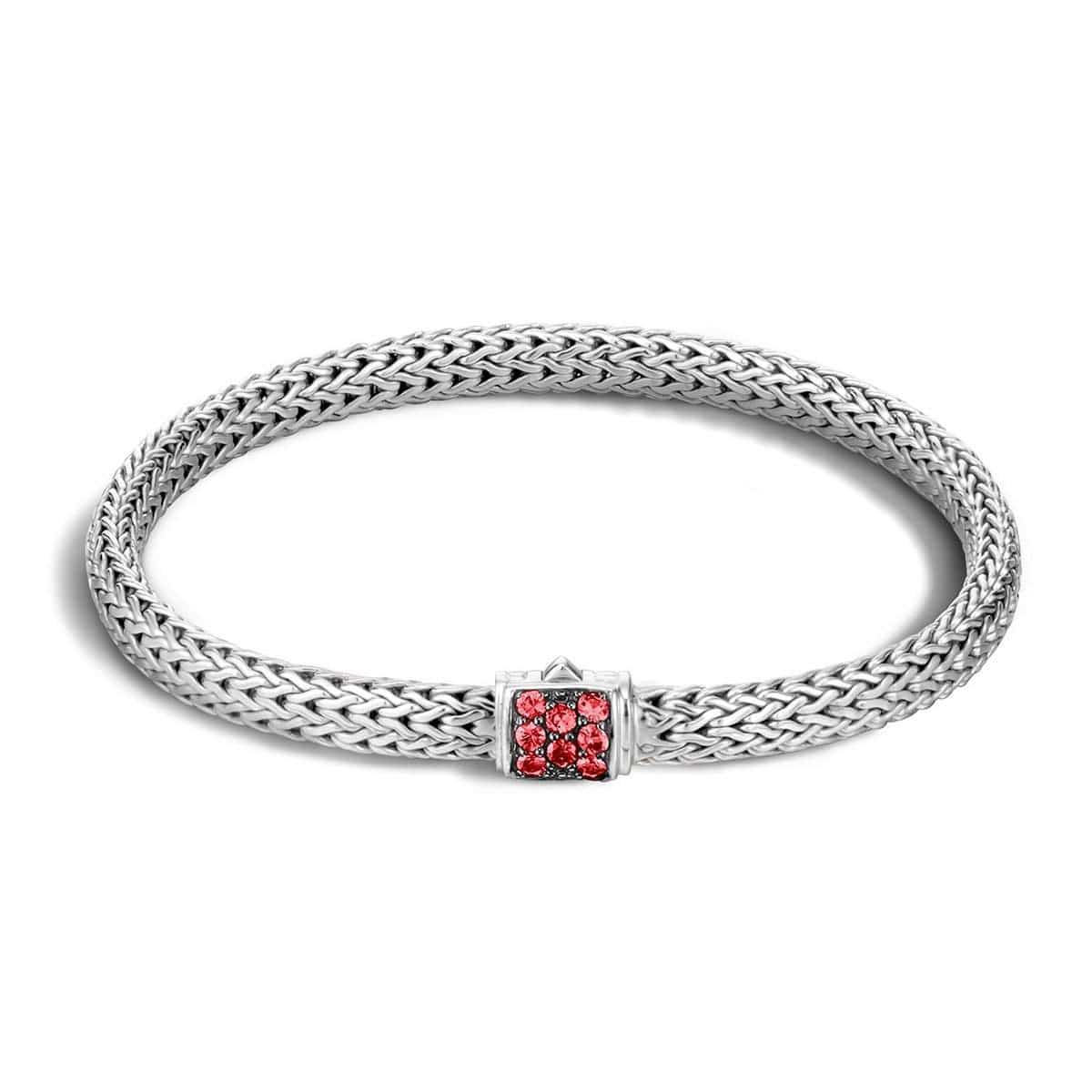 John Hardy Classic Chain Bracelet With Red Sapphire Xl Red sapphire e7T5F2m